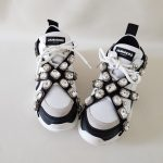 SNEAKERS BIANCO E NERO STRASS SOFY 1 JAMMERS LONDON (2)