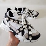 SNEAKERS BIANCO E NERO STRASS SOFY 1 JAMMERS LONDON (3)