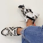 SNEAKERS BIANCO E NERO STRASS SOFY 1 JAMMERS LONDON (4)