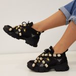 SNEAKERS NERA E ORO STRASS SOFY 1 JAMMERS LONDON (1)