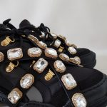 SNEAKERS NERA E ORO STRASS SOFY 1 JAMMERS LONDON (3)