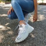 SNEAKERS PELLE BIANCO E ARGENTO STRIKE 3 JAMMERS LONDON (1)