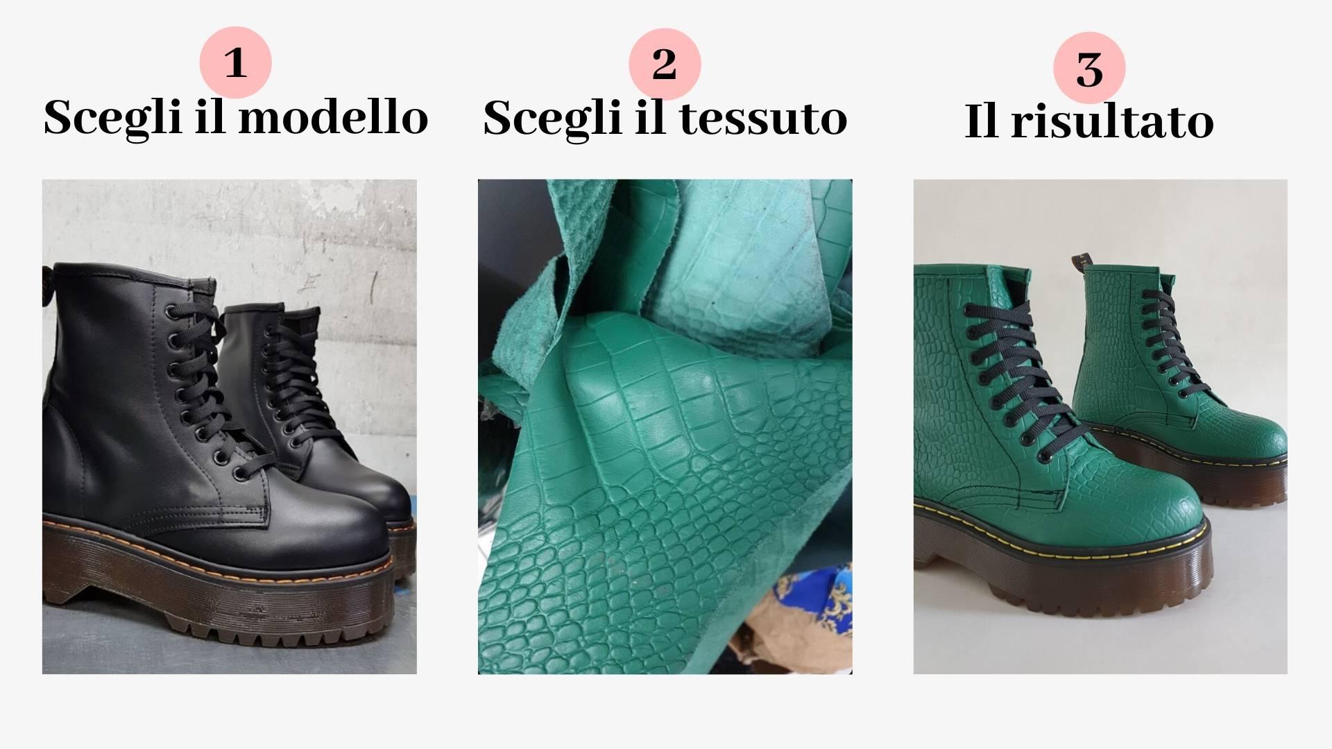Personalizzazione Lia Diva Stivaletti Oxford Pitone Verde