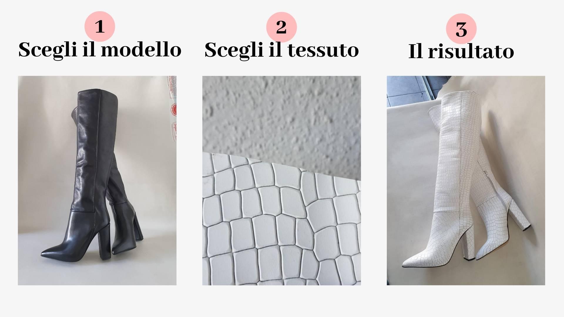 Personalizzazione Lia Diva Stivali Sara Cocco Bianco